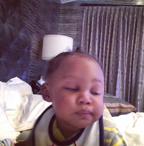 Baby Logan Serves Face