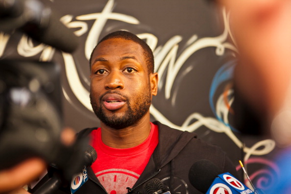 Dwyane Wade Visits Overtown Youth Center in Miami