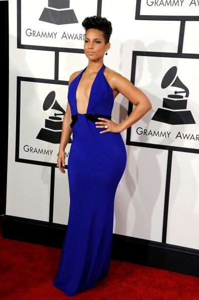 Alicia Keys in Armani Privé