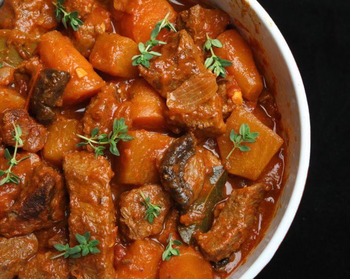 Beef & Beer Veggie Stew