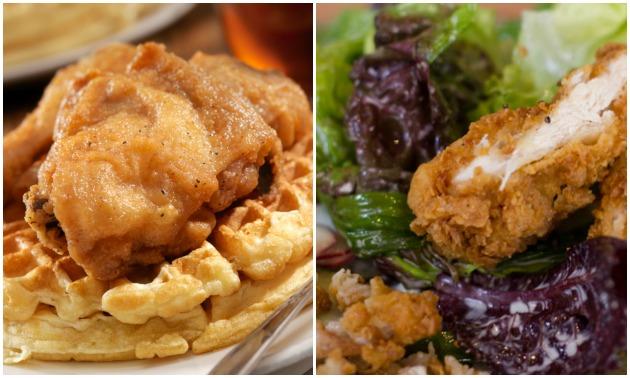 Chicken & Waffles Salad