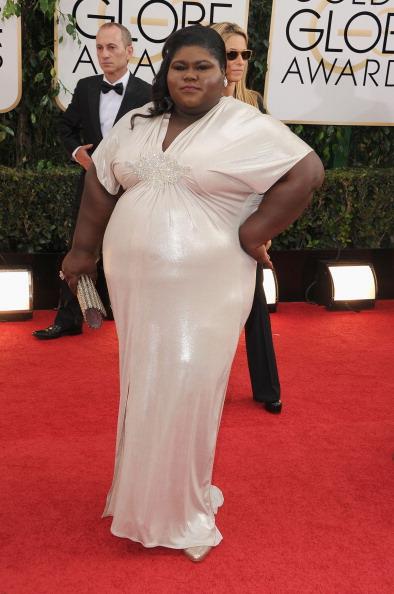 Gabourey Sidibe at The 2014 Golden Globes