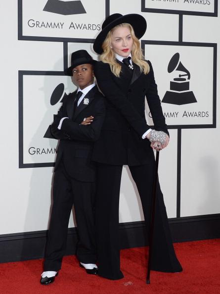 Madonna & her son David in Ralph Lauren