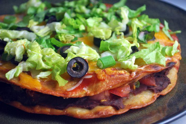 """Mexican Tortilla """"Pizza"""""""