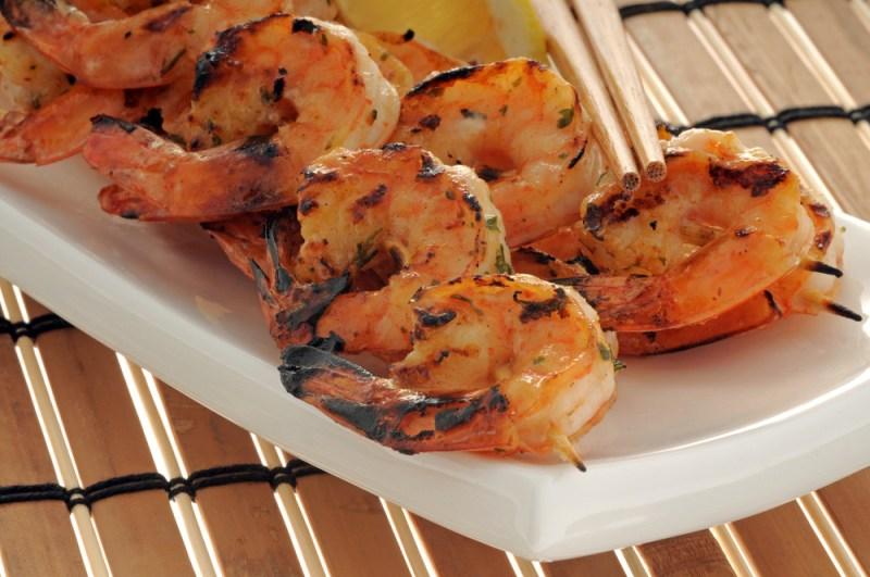Rum Glazed Shrimp Skewers