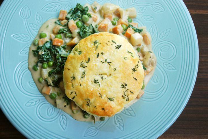 Sweet Potato Kale Pot Pie