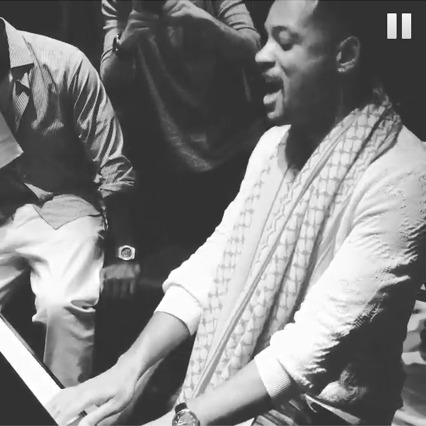 Will Smith Tickles The Ivories