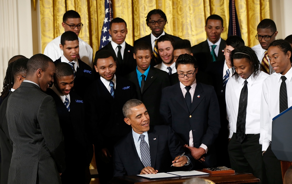 President Obama Speaks On The My Brother's Keeper Initiative At The White House