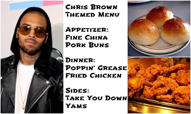 chris brown menu