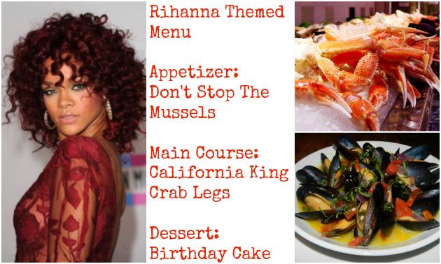 rihanna menu