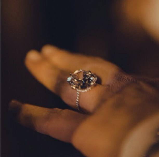 Kim Kardashian's Got The Ring & She's Bragging About It