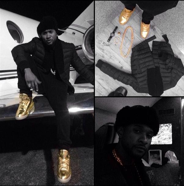 Usher's Loves Gold