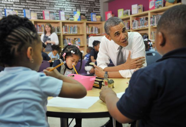 US-POLITICS-JOBS-OBAMA-SCHOOL