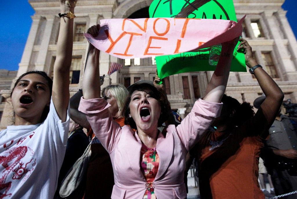 Pro-Life And Pro-Choice Supporters Rally At Texas Capitol