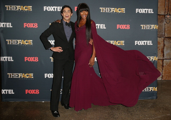 Naomi posed with designer Zac Posen at 'Face of Australia' photo call.