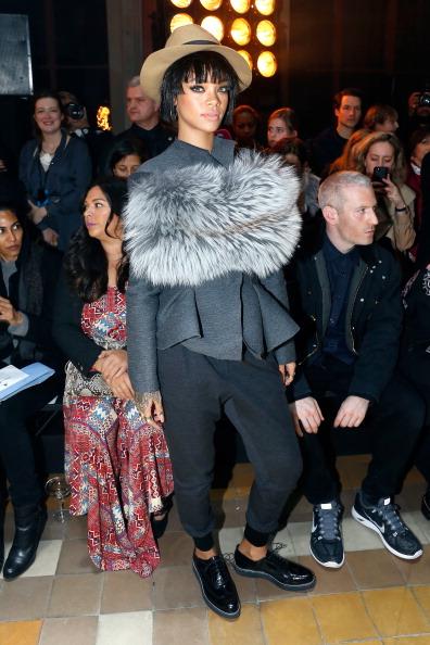 Rihanna attends the Lanvin show