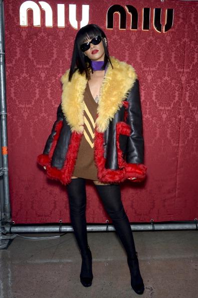 Rihanna attends the Miu Miu show