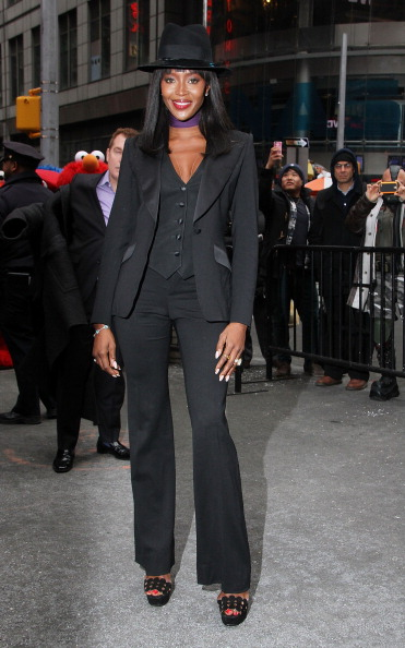 Our fave supermodel donned a sleek tux to ring the bell at NASDAQ.