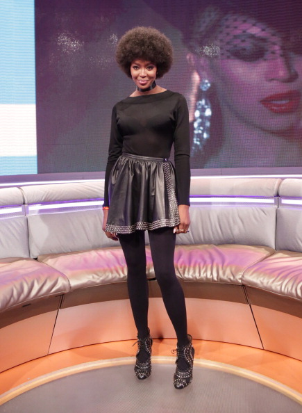 Naomi rocked her 'fro and a mini while on 106 and Park.