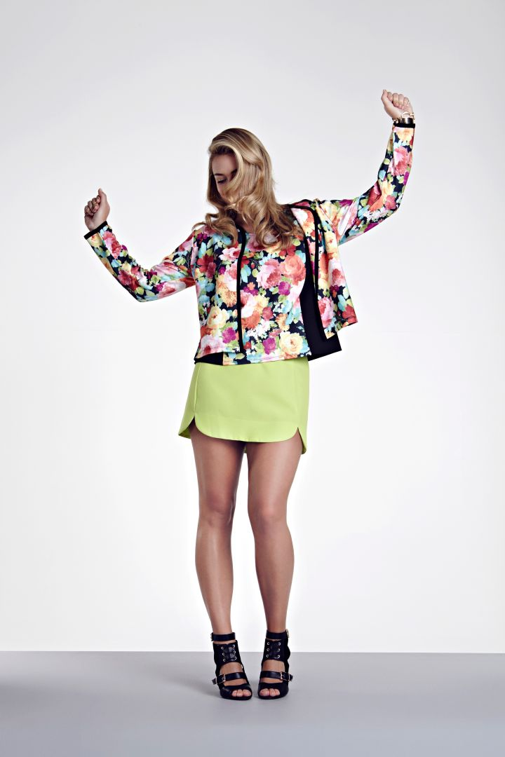 Be bold with a floral and neon combination.