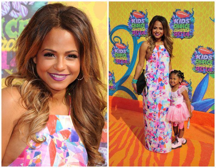 "Christina Milian's ""Bring Daughter To Red Carpet"" Day + More At Nickelodeon Kids' Choice Awards"