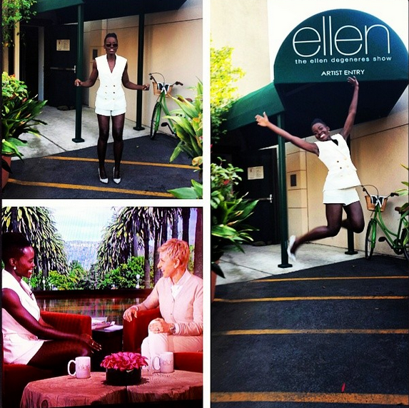 "Lupita Jumps For Joy On ""Ellen"""