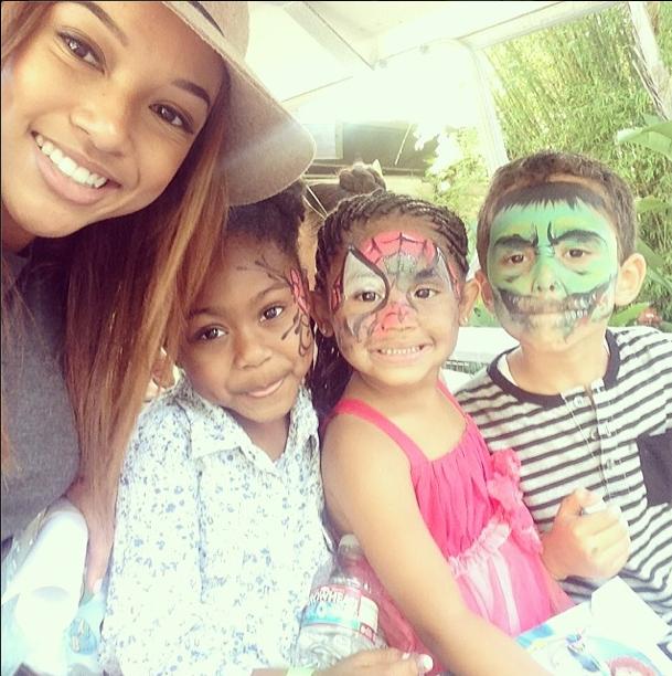 Karrueche Loves The Kids!
