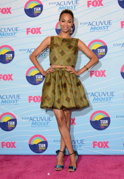 Zoe Saldana Teen Choice Awards 2012 - Press Room