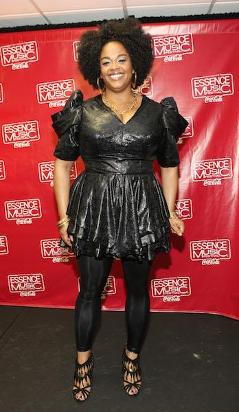 Jill Scott arrives at the 2010 Essence Music Festival