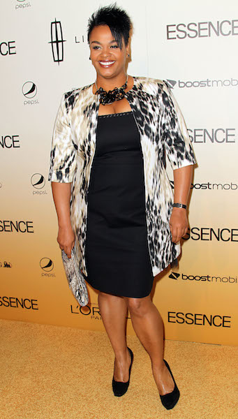 Jill Scott arrives at the 4th Annual ESSENCE Black Women In Hollywood Luncheon