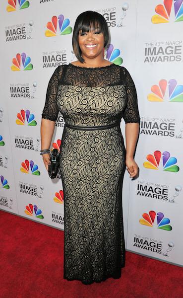 Jill Scott arrives at the 43rd NAACP Image Awards