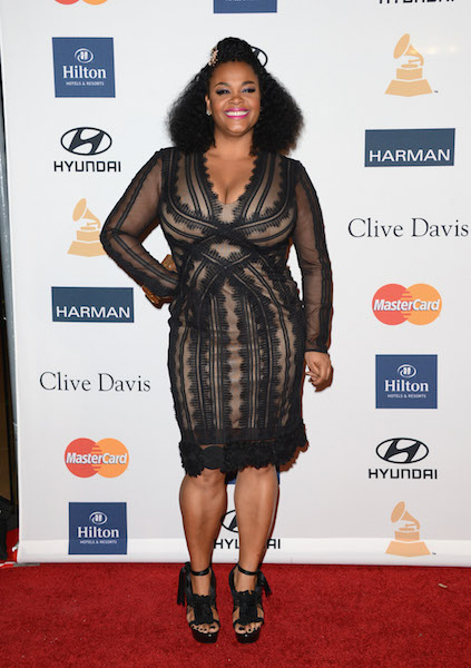 Jill Scott arrives at Clive Davis and The Recording Academy's 2013 Pre-GRAMMY Gala