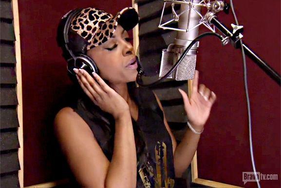 Porsha in the studio