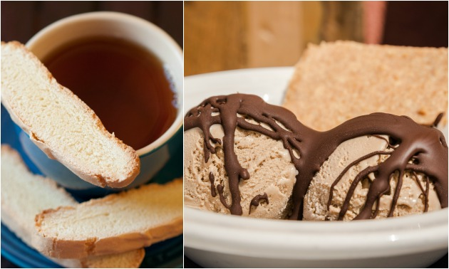 Ice Cream In My Coffee With Biscotti