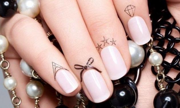 nail cuticle tattoos