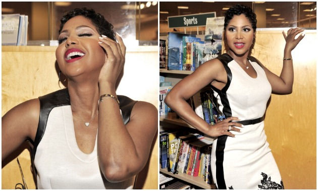 toni braxton Signs Copies Of Her Book Unbreak My Heart