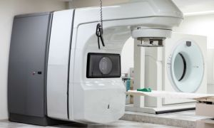 A radiation therapy machine for cancer treatment