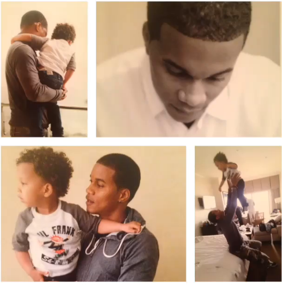 Cory Hardrict Celebrating Father's Day With Son, Cree