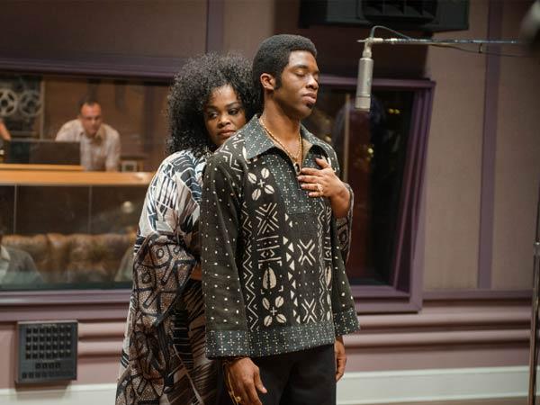 """Chadwick Boseman & Jill Scott In """"Get On Up"""""""
