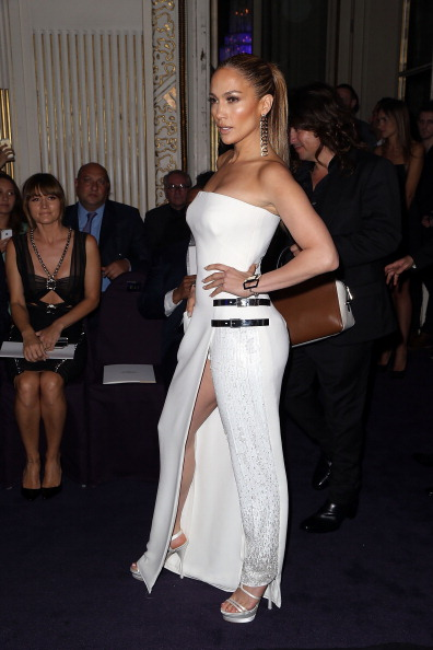 Versace : Front Row  - Paris Fashion Week : Haute-Couture Fall/Winter 2014-2015