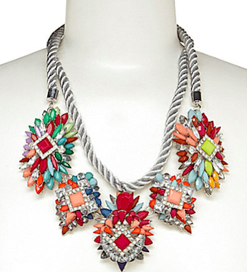Rope Cluster Statement Necklace
