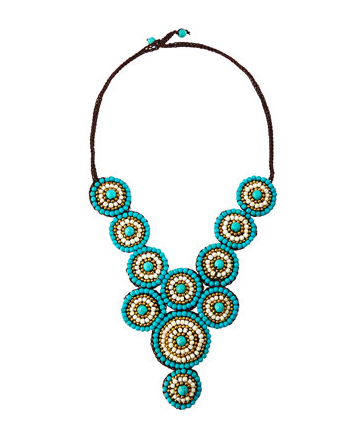 Circle Rope Statement Necklace