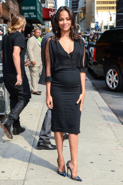 "Zoe Saldana leaves the ""Late Show With David Letterman"""