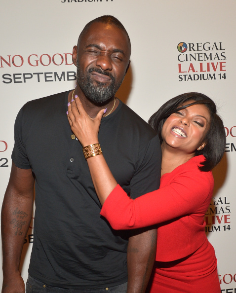 Taraji P. Henson & Idris Elba Cut Up At The 'No Good Deed' Screening In LA