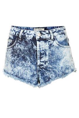 Acid Wash Denim Hotpants