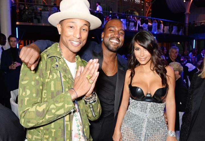 Kim Kardashian, Kanye West & Pharrell