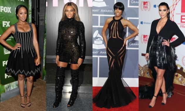 celebrities-in-black-tamera-mowry-housely-beyonce-kelly-rowland-kim-kardashian-hello-beautiful