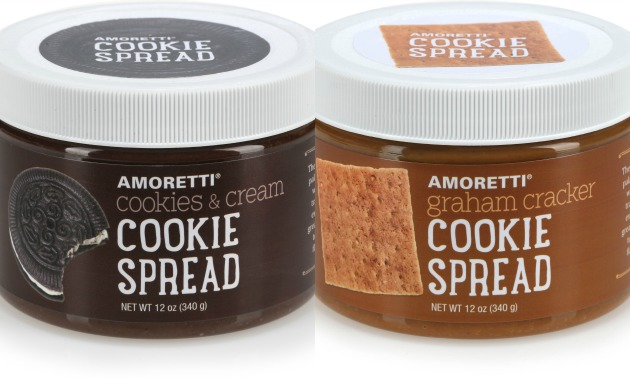 Amoretti Cookies & Cream and Graham Cracker Cookie Spreads