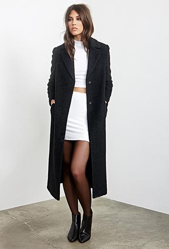 Textured Duster Coat