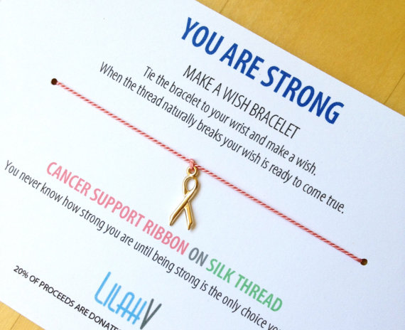 "LilahV ""You Are Strong"" Wish Bracelet, $18"